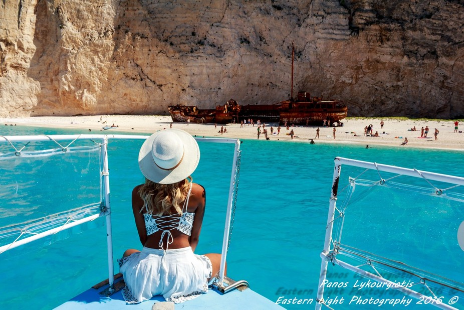 Fashion Photography in Shipwreck beach - Zante - Zakynthos - Greece