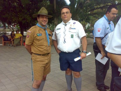 A boy scout and a sea scout ... integration ... brotherhood ... no difference