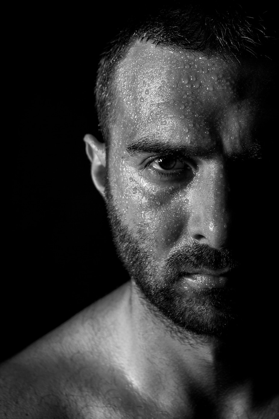 Wet Portrait by PrysyazhnyyOleksiy - Selfies In Black and White Photo Contest