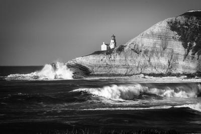 Point Concepcion Lighthouse B+W