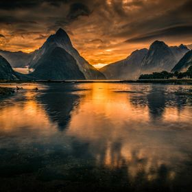 Milford sound, world heritage area, Fiordland National Park, South Island , New Zealand