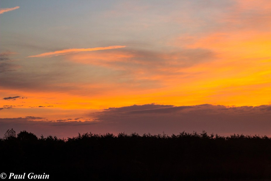 Just another sunrise. Part of a pano.