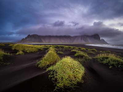 Vestrahorn in the clouds