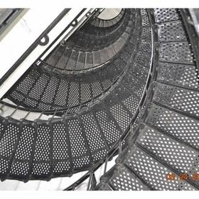 This was taken looking Up the Circular Staircase to the Top of the Lighthouse.