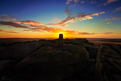Stanage Edge, Trig point