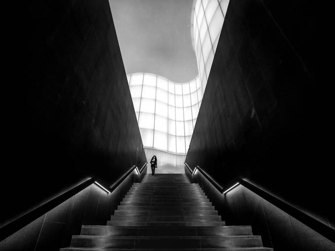 Stairway from heaven by Marco_Tagliarino - City Life In Black And White Photo Contest