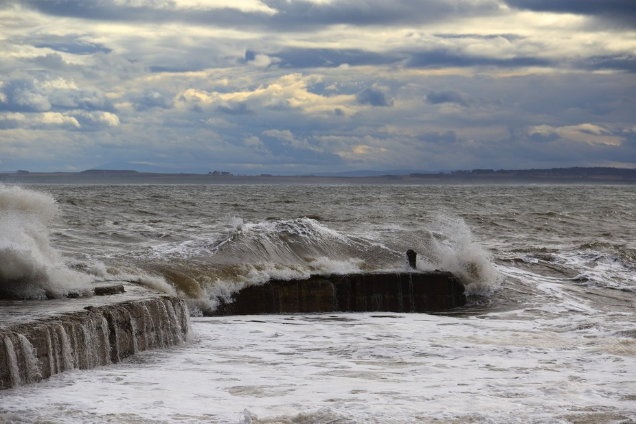 The small pier of Embo. Scotland.