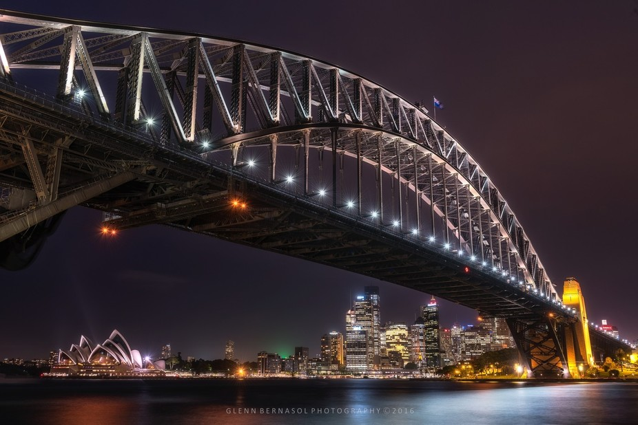 My take on the famous Opera House and Harbour Bridge, Sydney Australia