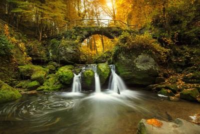 Romantic waterfall