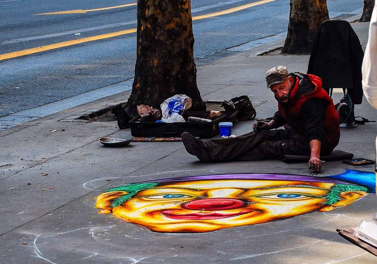 A street artist in Paris