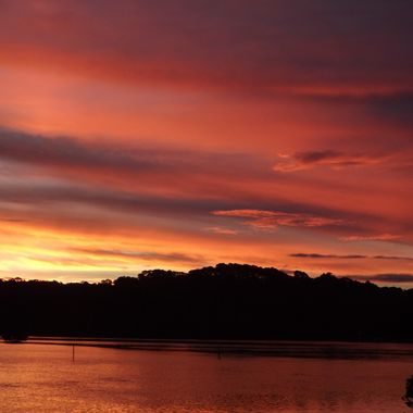 sunset @ bermagui river