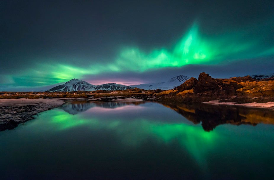 Aurora in the water