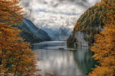 Autumn at lake Königssee