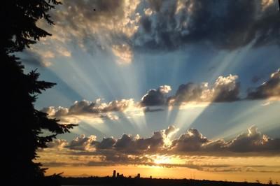 Sun on Seattle