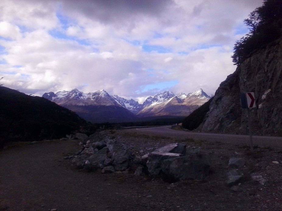 I found this beautiful view on our honeymoon in the mountains just outside of Ushuaia in Argentin...