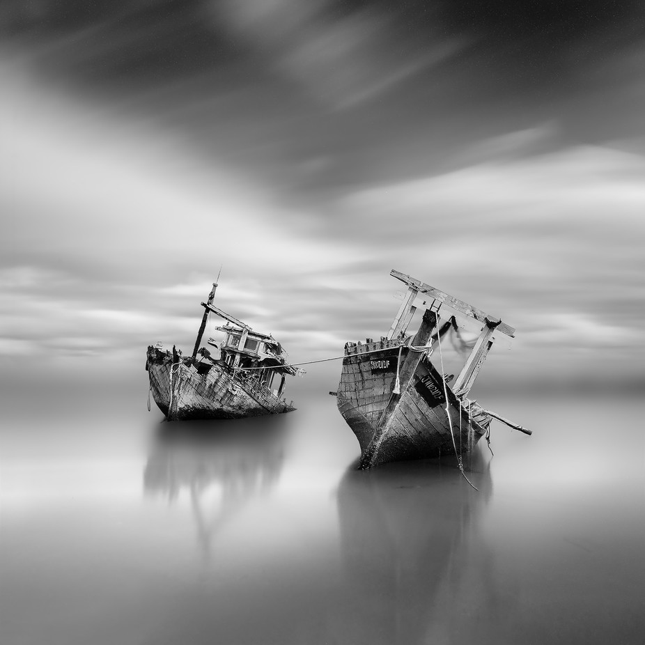 We belong together  by patriciasoon - A World In Black And White Photo Contest
