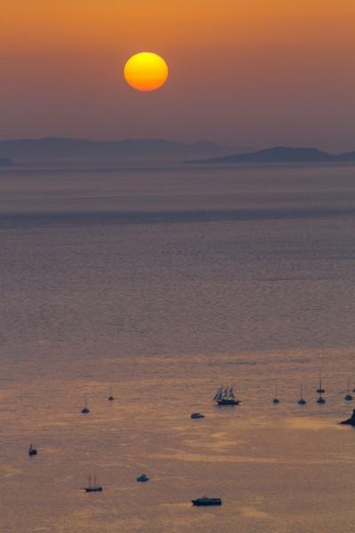 Santorini`s sunset