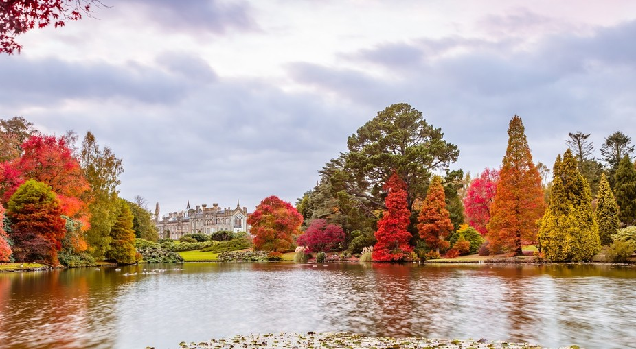 Explosion of colours in the beautiful gardens of Sheffield Park, Uckfield, U.K.