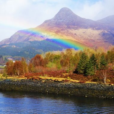 Glencoe in all its glory of colours