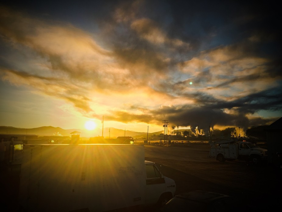 As I was walking out of my lab the beautiful sunrise over Pocatello Idaho  mesmerized me, and pit...