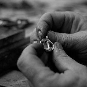 In Antigoni Jewellery's workshop! They preparing the lucky charms for 2017! I was there to capture few moments...