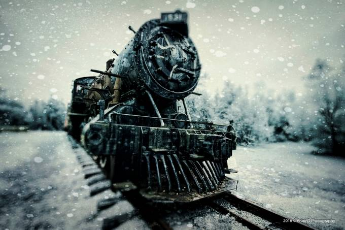 All aboard the Winter Express by AnneDphotography - TiltShift Effect Photo Contest