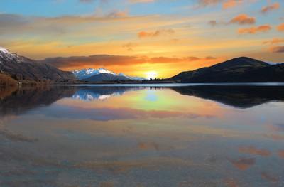 Golden Sunset in New Zealand