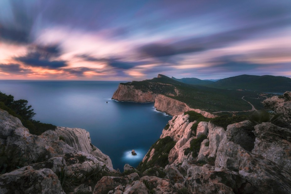 Long exposure at Capo Caccia