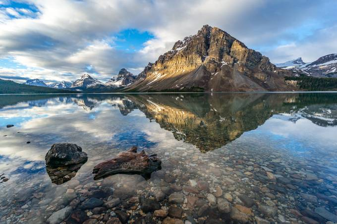 Mt Crowfoot reflected by janetteasche - Unforgettable Landscapes Photo Contest by Zenfolio