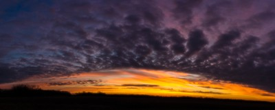 Panoramic Sunrise Landscape.