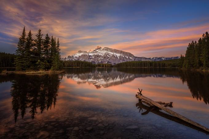 Two Jack Lake Sunrise by chadmcmahon - Monthly Pro Vol 27 Photo Contest