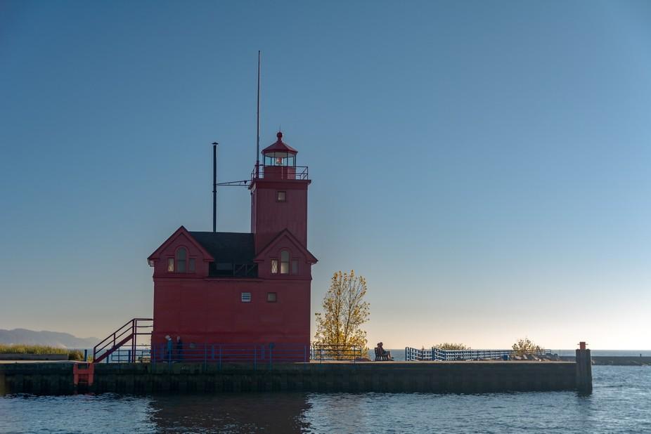 Holland Lighthouse - fall