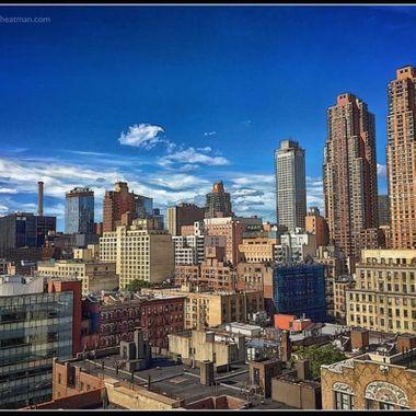 Midtown Manhattan looking northwest from 55th street.