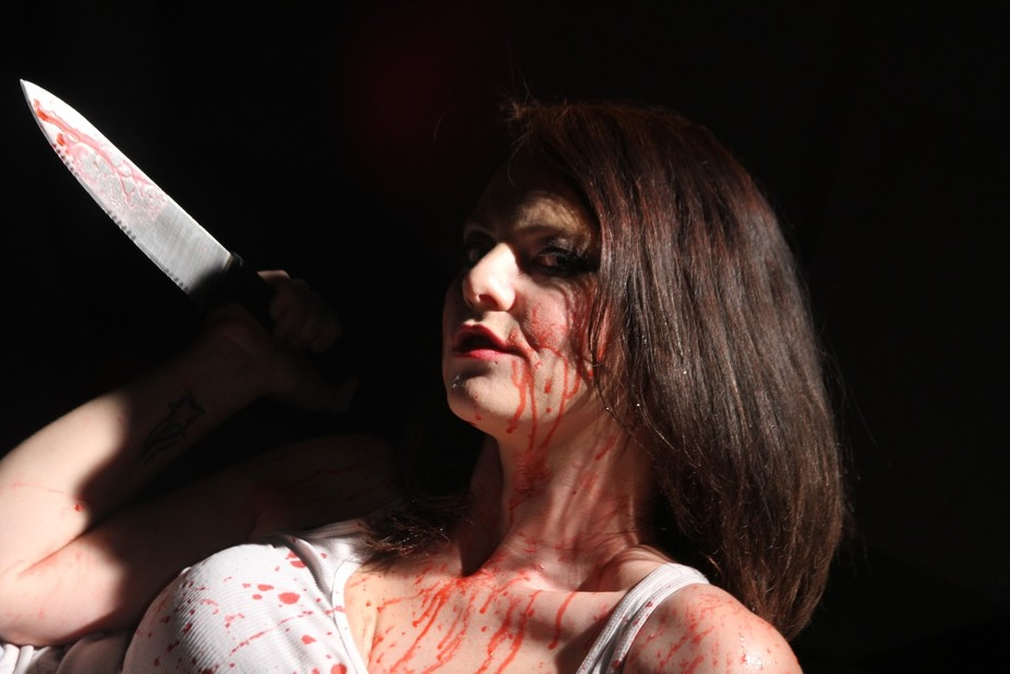 this is from a set about a psychotic female that snaps and kills everyone who wronged her.