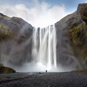 The mighty Skogafoss waterfall, found on the south coast of Iceland. I have used my self to create a better sence of scale and to create some dep...