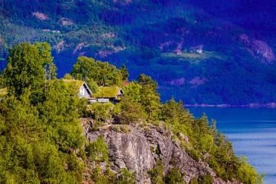 Green roofs of Lustrafjorden