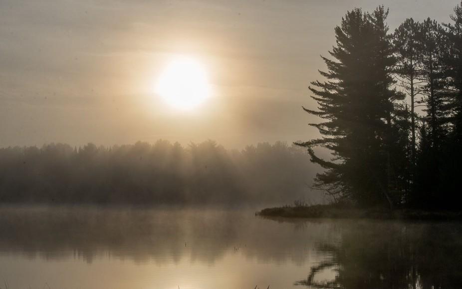 A beautiful reflective sunrise