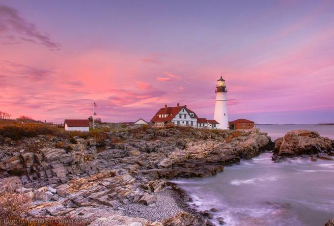 Portland Head Lighthouse -  Sunset by deannefortnam - Monthly Pro Vol 27 Photo Contest