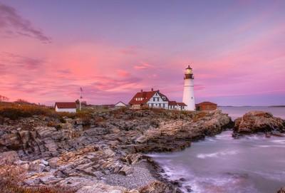 Portland Head Lighthouse -  Sunset