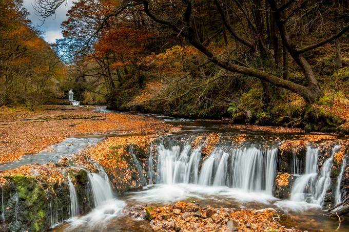 Sgwd Y Bedol with Sgwd Ddwli Isaf by Bynack - Streams In Nature Photo Contest