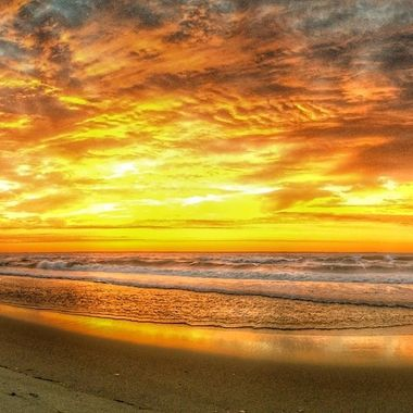 Sunrise off Long Beach Island (LBI) on September 11, 2014 as I go for my usual morning coffee walk.