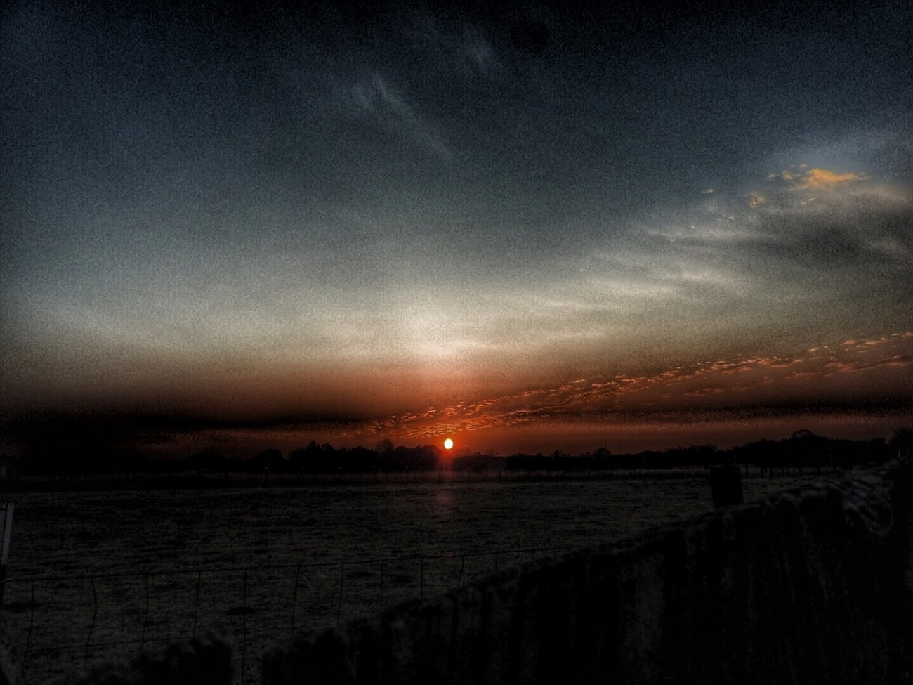 Captured the sun as it started to rise on the horizon