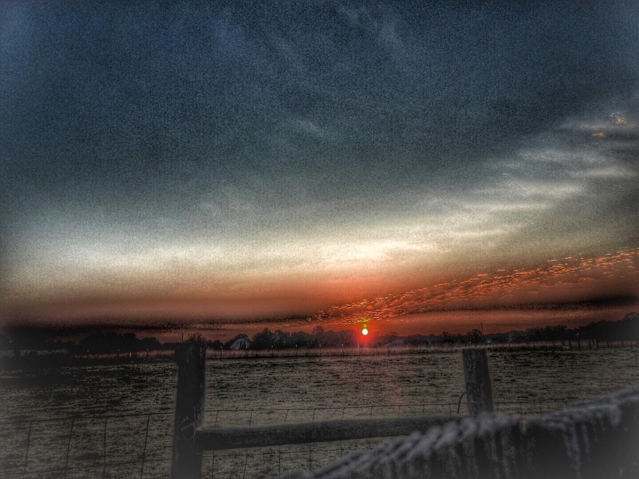 Taken as the sun came up over the horizon.