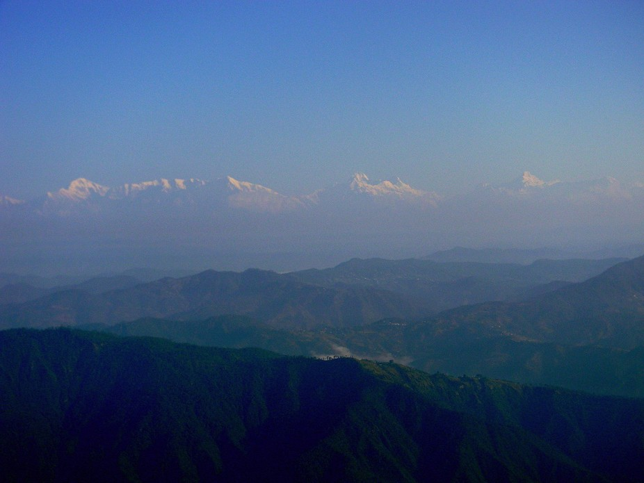 A cloudy winter morning where I couldn't initially spot 'The Himalayas&#039...