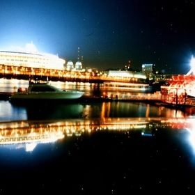''1997''Night Shot of Cincinnati's-Riverfront.Coliseum.'' ''At Newport,Ky.-Cincinnati,Ohio.'...