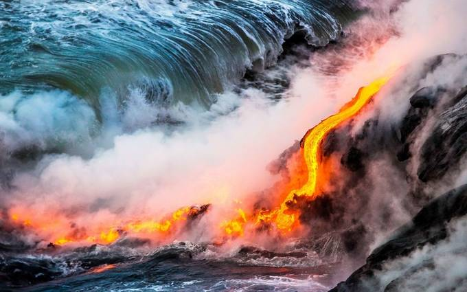 Ocean Lava Entry by MasonLakePhoto - Capture The Four Elements Photo Contest