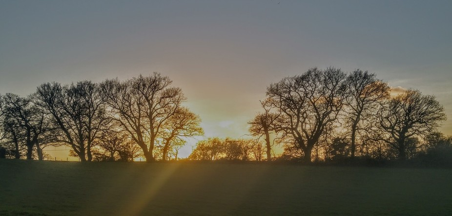 This was sunrise on a very cold winter morning.