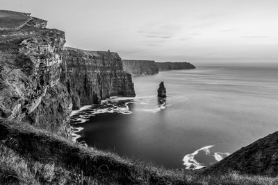 The Cliffs of Moher Ireland  B&W