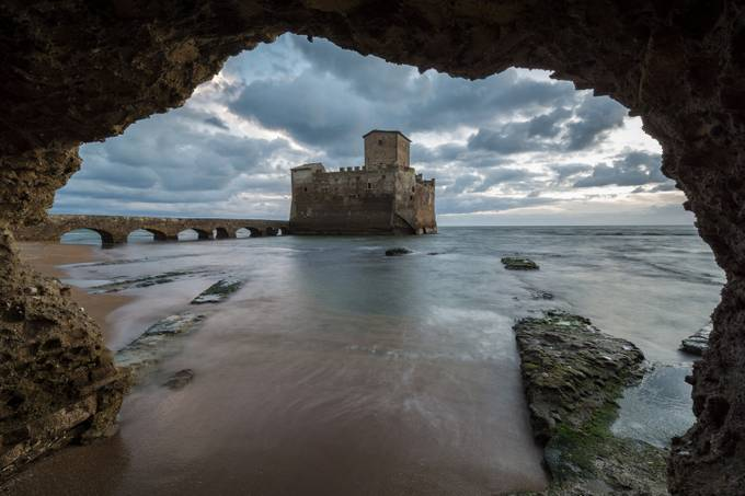 Stormy weather at Torre Astura. by Gilmour82 - Enchanted Castles Photo Contest