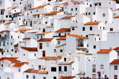 White Village, coloured washing on line (My best shot)